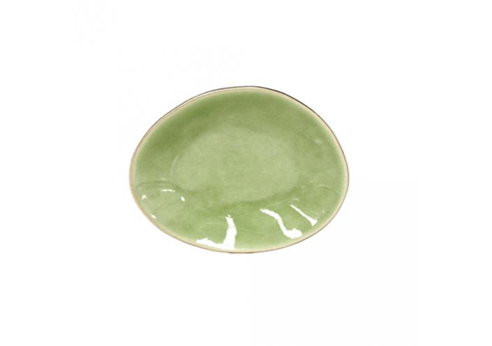 Costa Nova Set de 6 assiettes plates ovales Costa Nova Riviera, vert frais (16 x 12 cm) GOP162HGR - Coutellerie du Jet d'eau