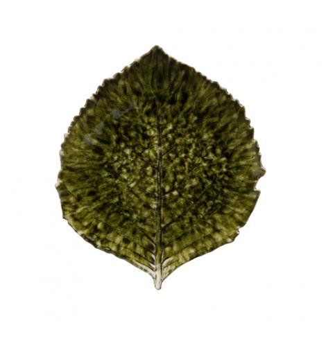 Costa Nova Riviera assiette hydrangea-feuille Costa Nova, forêt (Ø 22 cm) VEP221TGR - Coutellerie du Jet d'eau
