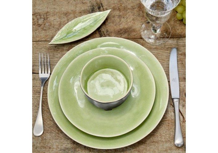 Costa Nova Set de 6 assiettes plates Costa Nova Riviera, vert frais (Ø 21 cm) NAP215HGR - Coutellerie du Jet d'eau