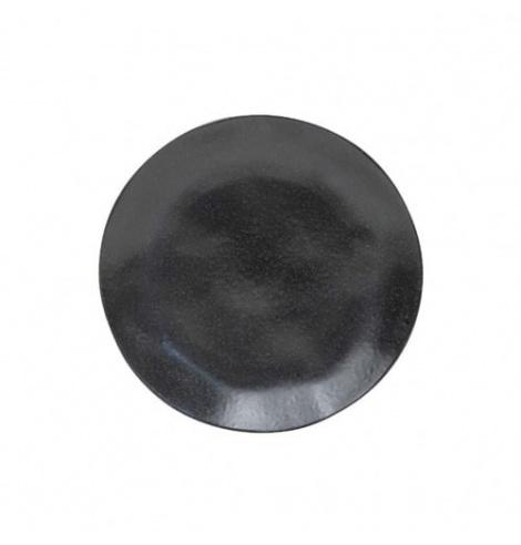 Costa Nova Riviera assiette plate Costa Nova, sable noir (Ø 21 cm) NAP215SN - Coutellerie du Jet d'eau