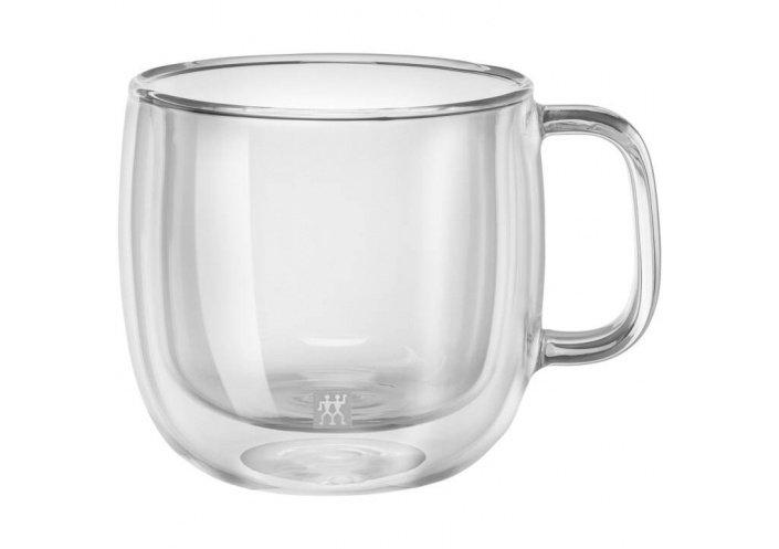 Zwilling J.A Henckels Set de 2 tasses à cappucino avec anse Zwilling - Sorrento Plus (45 cl) 39500-113-0 - Coutellerie du Jet...