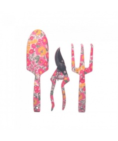 Mayer & Bosshardt Outils pour le jardin M&B - Motif fleur rose et orange GA-511 - Coutellerie du Jet d'eau