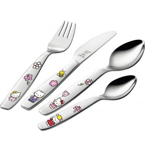 """Zwilling J.A Henckels Couverts pour enfants Zwilling J.A Henckels """"Hello Kitty"""" (4 pièces) 07133-210-0 - Coutellerie du Jet d..."""