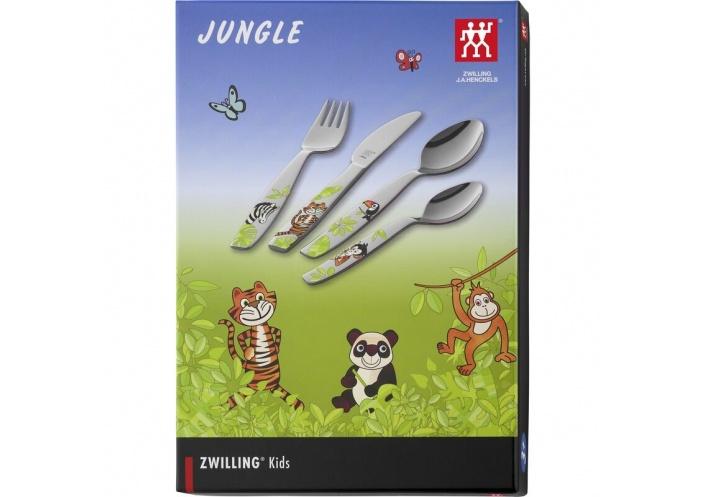"""Zwilling J.A Henckels Couverts pour enfants Zwilling J.A Henckels """"Jungle"""" (4 pièces) 07135-210-0 - Coutellerie du Jet d'eau"""