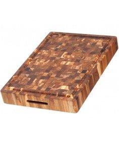 Planche à découper Teak Haus en bois de teck (51,00 x 35,50 x 6,40 cm) TH313 - Coutellerie du Jet d'eau