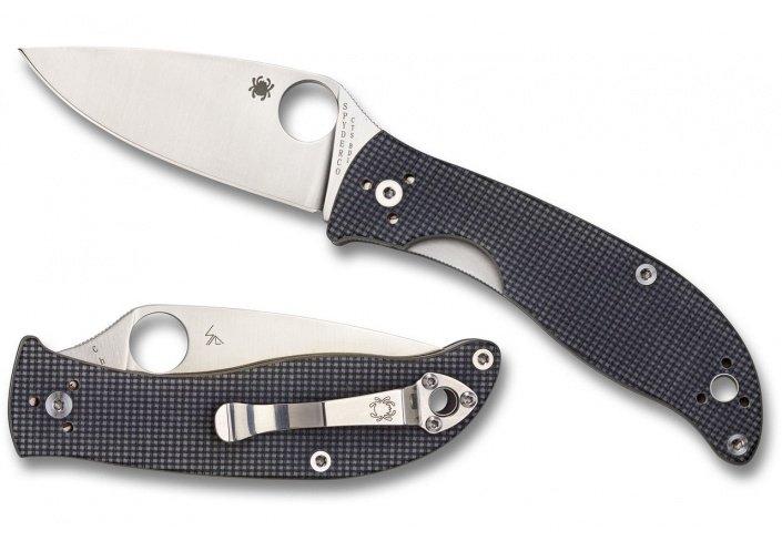 Spyderco Couteau pliant Spyderco Polestar - CTS BD1 avec tranchant lisse C220GPGY - Coutellerie du Jet d'eau