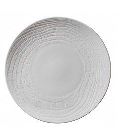 Revol Assiette plate Revol en porcelaine - Arborescence Ivory (Ø 28 cm) RE648279 - Coutellerie du Jet d'eau
