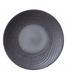 Revol Assiette plate Revol en porcelaine - Arborescence Liquorice (Ø 28 cm) RE648280 - Coutellerie du Jet d'eau