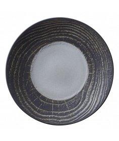 Revol Assiette plate Revol en porcelaine - Arborescence Pepper (Ø 28 cm) RE648281 - Coutellerie du Jet d'eau