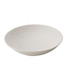 Revol Assiette à soupe Revol en porcelaine - Arborescence Ivory (Ø 24 cm) RE648288 - Coutellerie du Jet d'eau