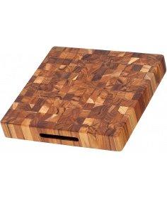 Teak Haus Planche à découper TeckHaus en bois de Teck (30.5 x 30.5 x 5.5 cm) TH317 - Coutellerie du Jet d'eau