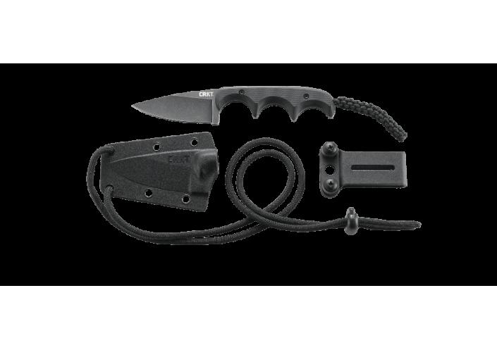 CRKT Couteau lame fixe CRKT Minimalist Black Drop Point 2384K - Coutellerie du Jet d'eau