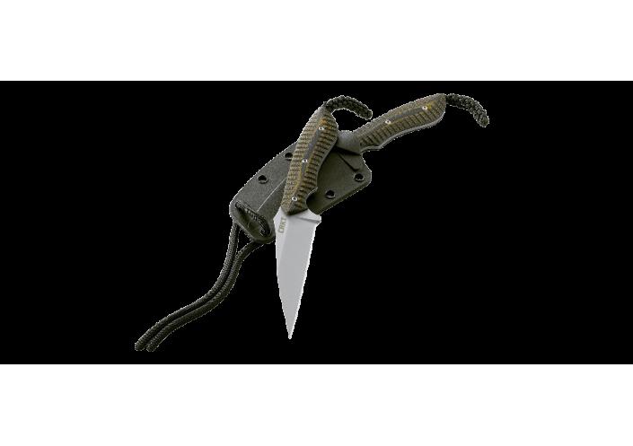 CRKT Couteau lame fixe CRKT S.P.E.W. (Small. Pocket. Everyday. Wharncliffe.) 2388 - Coutellerie du Jet d'eau