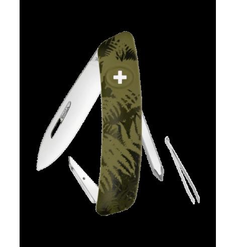Swiza Swiss Knives Couteau suisse Swiza C02 Camouflage Fougère KNI.0020.2050 - Coutellerie du Jet d'eau