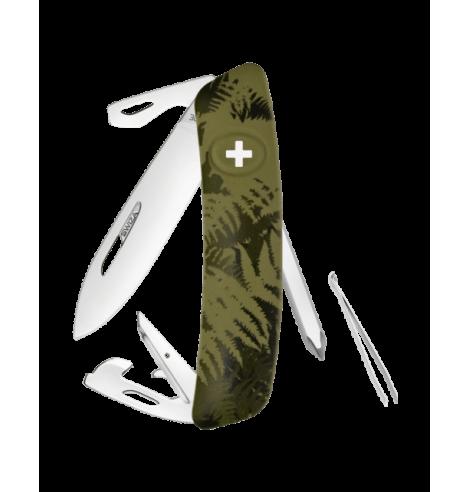 Swiza Swiss Knives Couteau suisse Swiza C04 Camouflage Fougère KNI.0040.2050 - Coutellerie du Jet d'eau