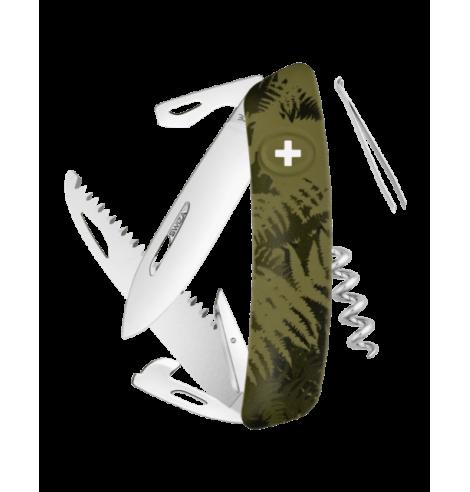 Swiza Swiss Knives Couteau suisse Swiza C05 Camouflage Fougère KNI.0050.2050 - Coutellerie du Jet d'eau