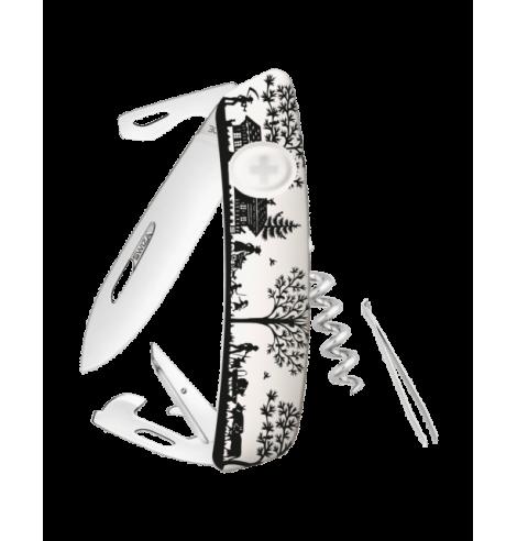 Swiza Swiss Knives Couteau suisse Swiza D03 Heimat Blanc KNB.0030.HEI3 - Coutellerie du Jet d'eau
