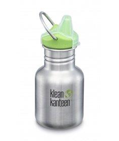 Klean Kanteen Gourde Kid Kanteen Classic (avec Sippy Cap vert) Brushed Stainless 355ml 1005845 - Coutellerie du Jet d'eau