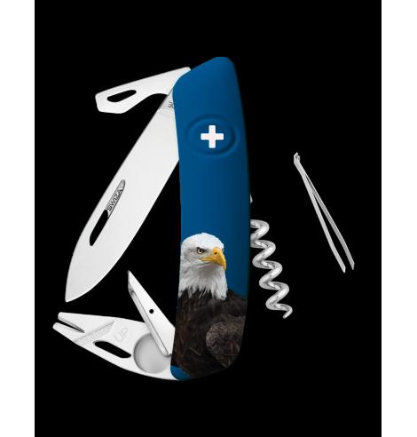 Swiza Swiss Knives Couteau suisse Swiza TT03 Wildlife Tick-Tool Bald Eagle KNB.0070.W001 - Coutellerie du Jet d'eau
