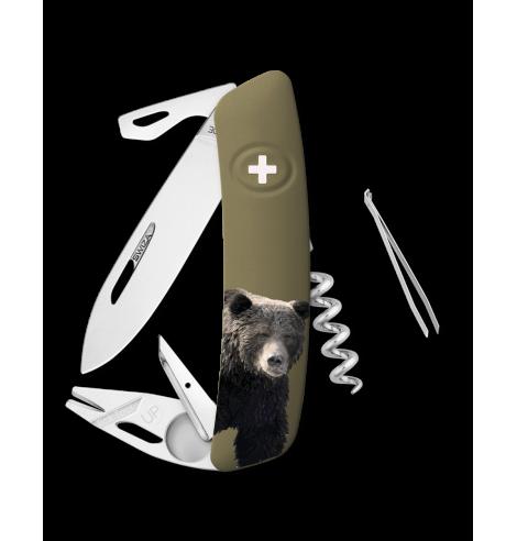 Swiza Swiss Knives Couteau suisse Swiza TT03 Wildlife Tick Tool Grizzli KNB.0070.W002 - Coutellerie du Jet d'eau