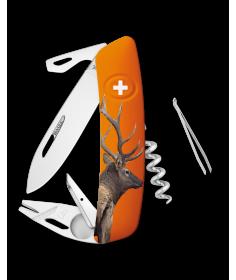 Swiza Swiss Knives Couteau suisse Swiza TT03 Wildlife Tick-Took Bull Elf KNB.0070.W003 - Coutellerie du Jet d'eau