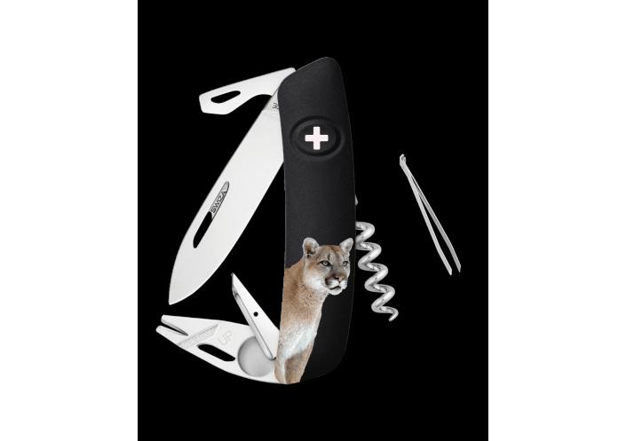 Swiza Swiss Knives Couteau suisse Swiza TT03 Wildlife Tick-Tool Puma KNB.0070.W004 - Coutellerie du Jet d'eau