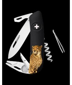 Swiza Swiss Knives Couteau suisse Swiza TT03 Wildlife Tick-Tool Cheetah KNB.0070.W006 - Coutellerie du Jet d'eau