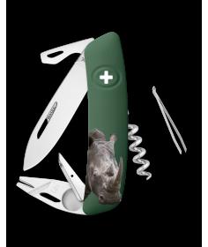 Swiza Swiss Knives Couteau suisse Swiza TT03 Wildlife Tick-Tool Rhinoceros KNB.0070.W007 - Coutellerie du Jet d'eau
